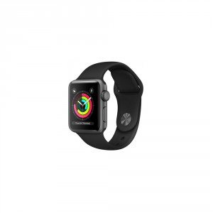 0efeeda4a31 Watch Series 3 GPS, 42mm Space Grey Aluminium Case with Black Sport Band